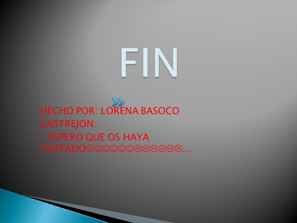 FIN HECHO POR: LORENA BASOCO CASTREJON.