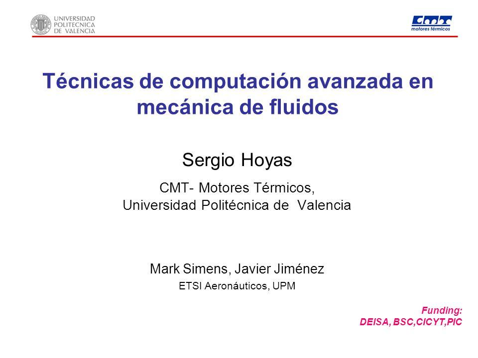 Técnicas de computación avanzada en mecánica de fluidos