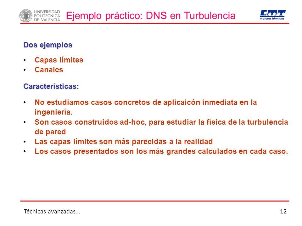 Ejemplo práctico: DNS en Turbulencia