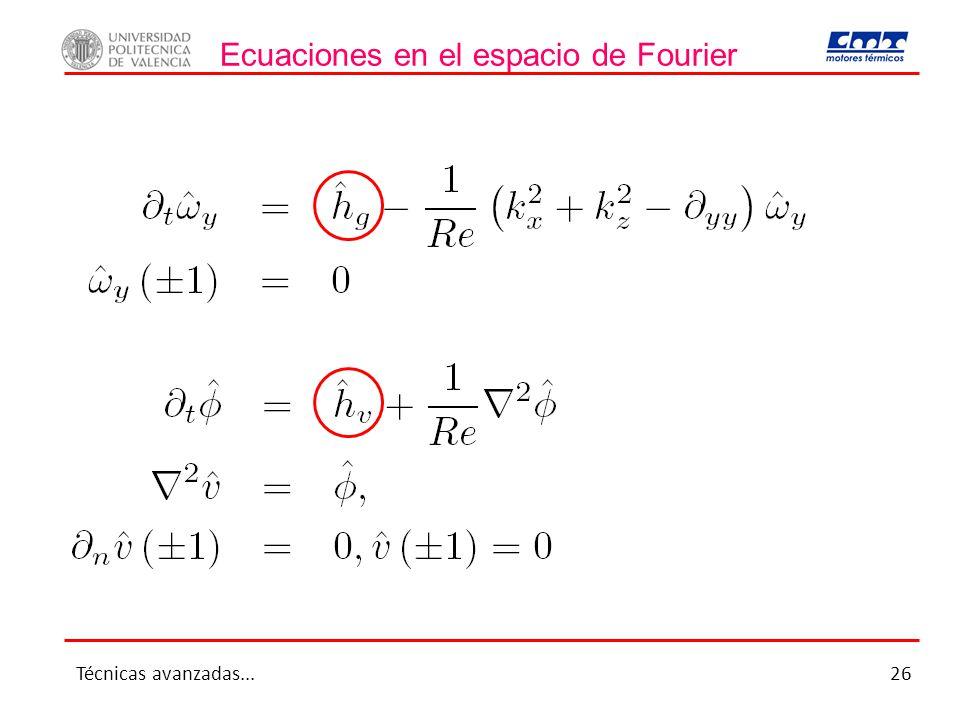 Ecuaciones en el espacio de Fourier