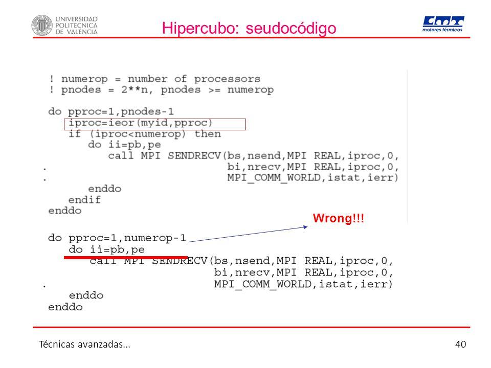 Hipercubo: seudocódigo