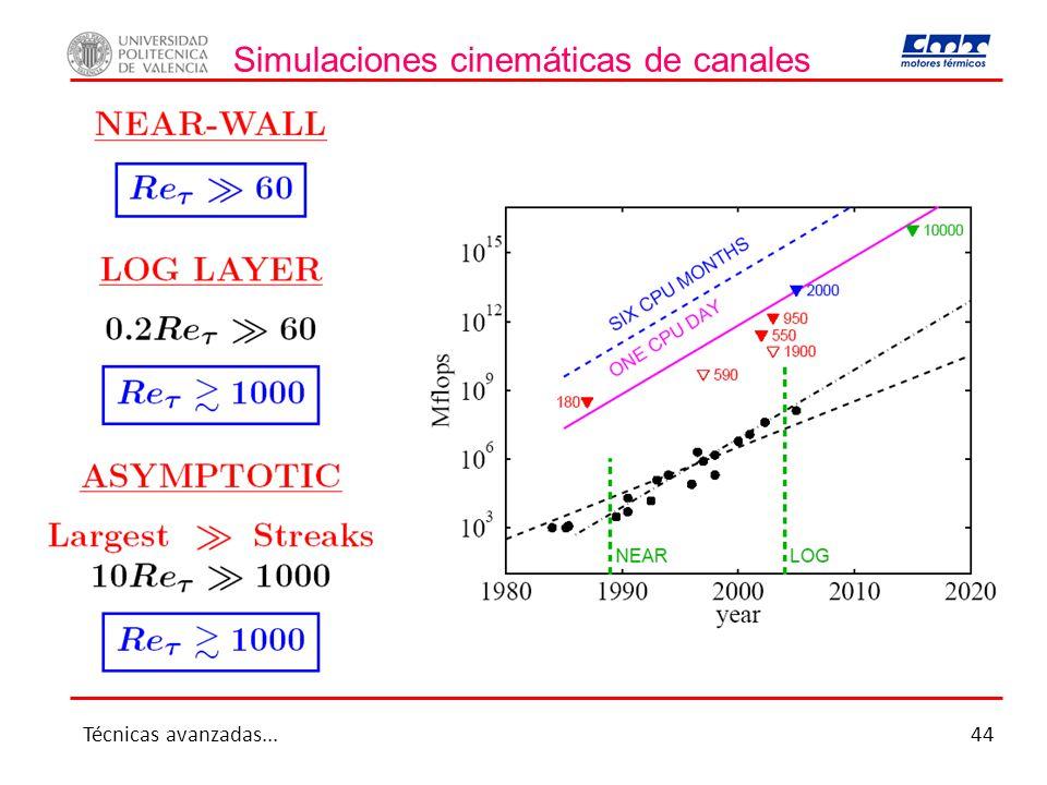 Simulaciones cinemáticas de canales