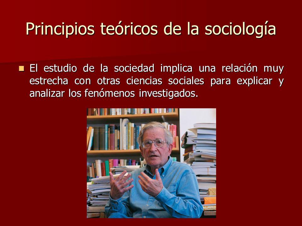 Principios teóricos de la sociología