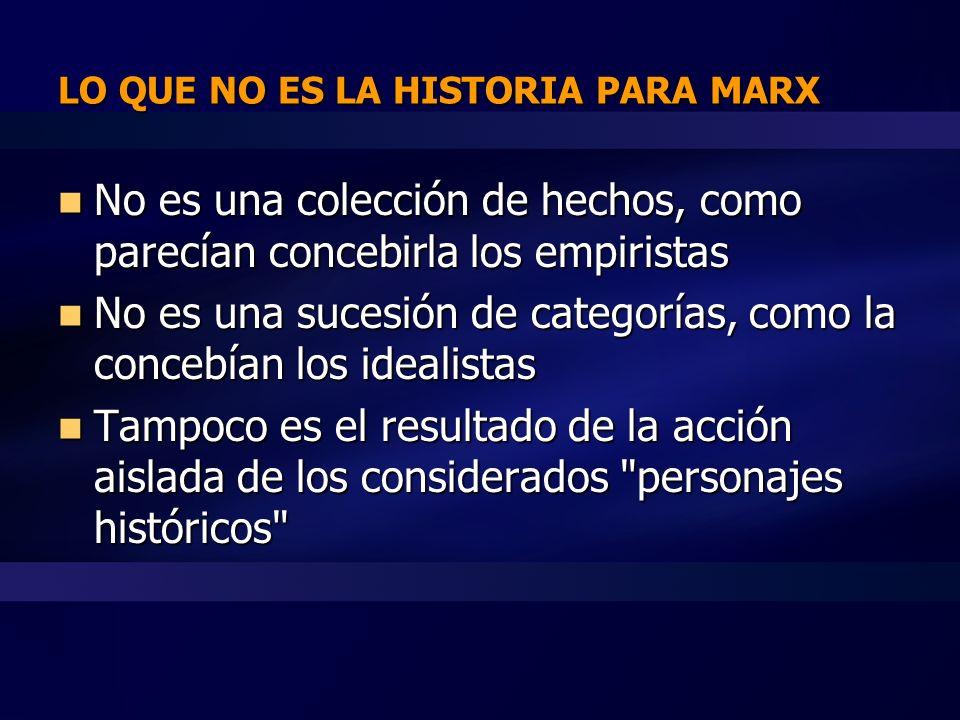 LO QUE NO ES LA HISTORIA PARA MARX