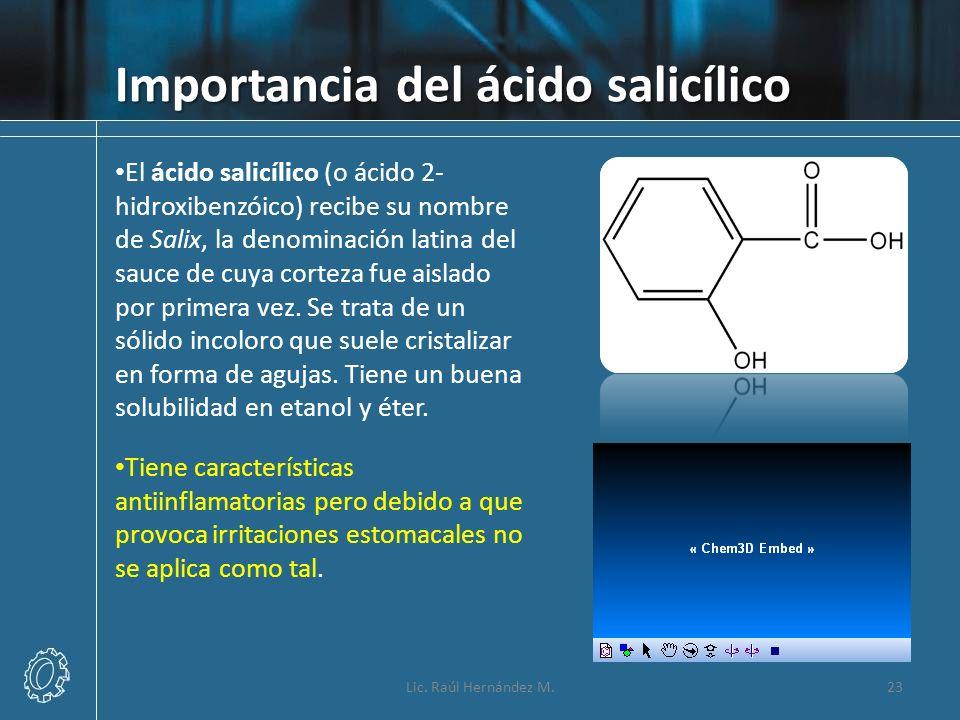 Importancia del ácido salicílico