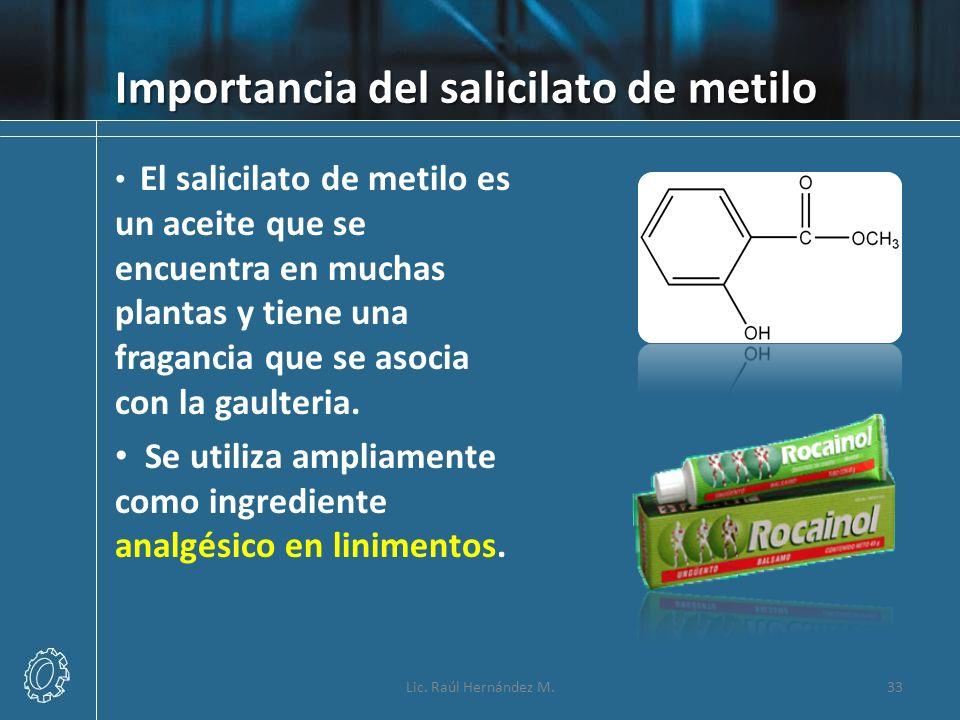 Importancia del salicilato de metilo