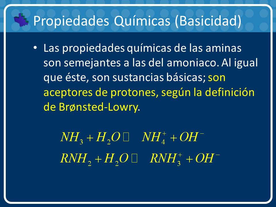 Propiedades Químicas (Basicidad)