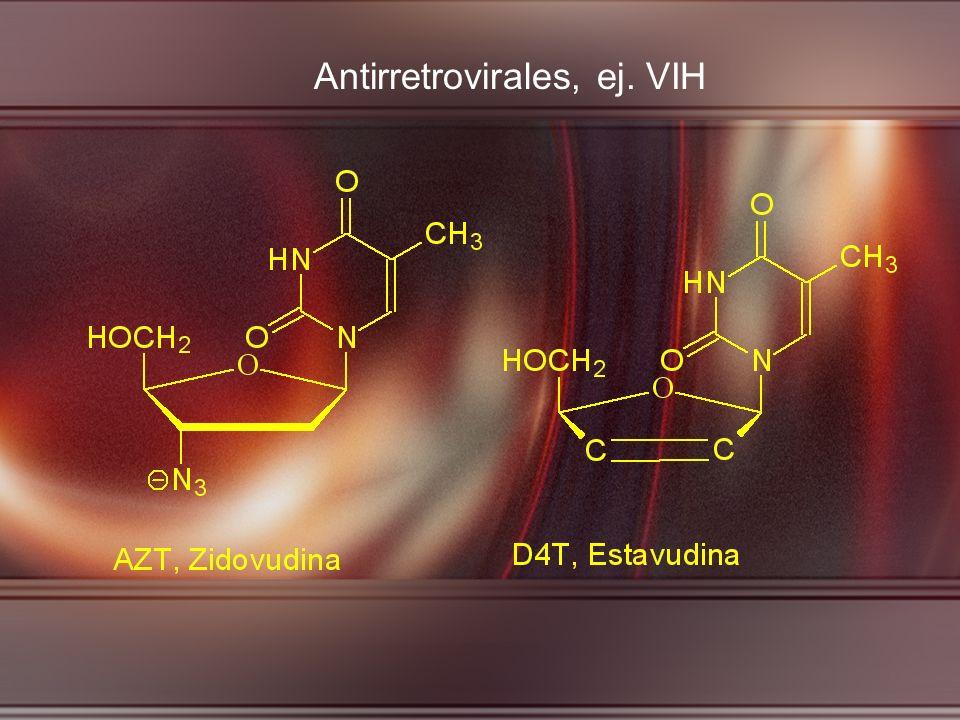 Antirretrovirales, ej. VIH