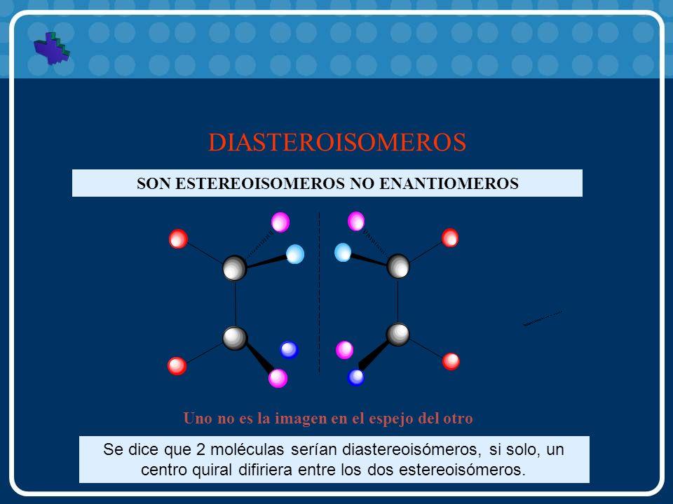 DIASTEROISOMEROS SON ESTEREOISOMEROS NO ENANTIOMEROS