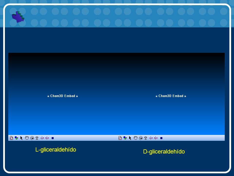 L-gliceraldehído D-gliceraldehído