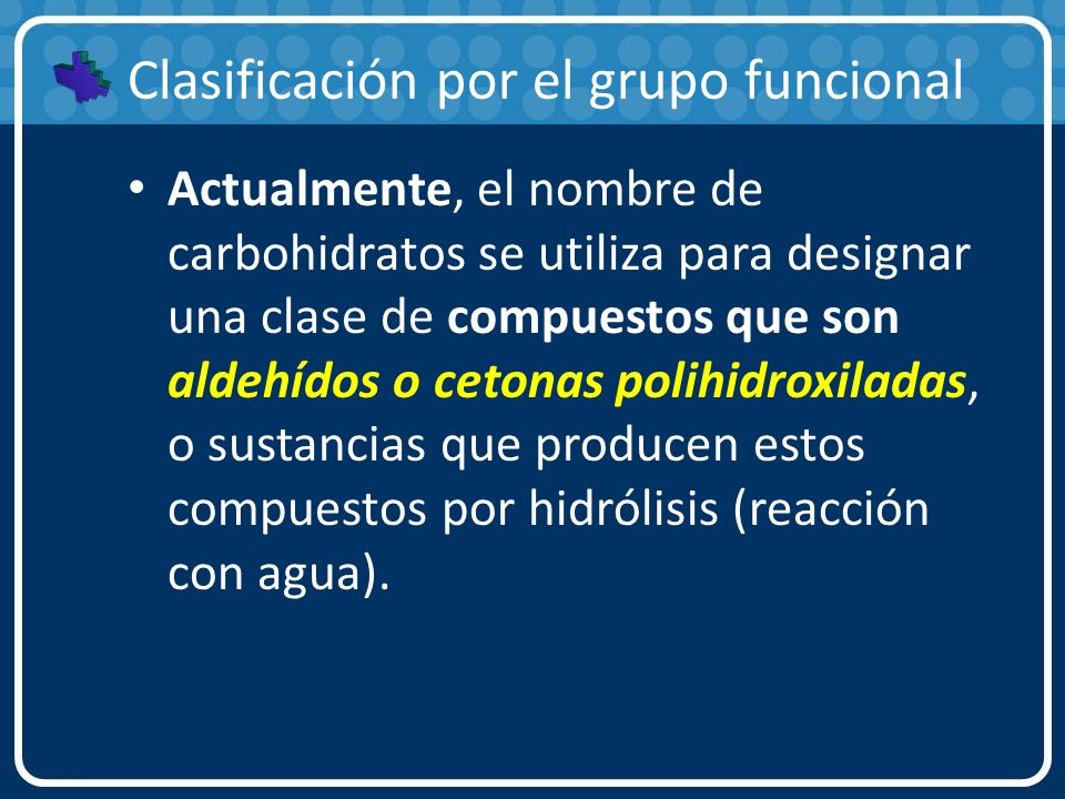 Clasificación por el grupo funcional