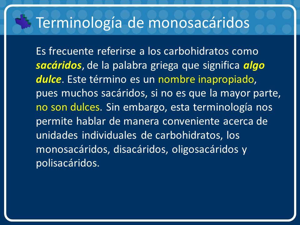 Terminología de monosacáridos