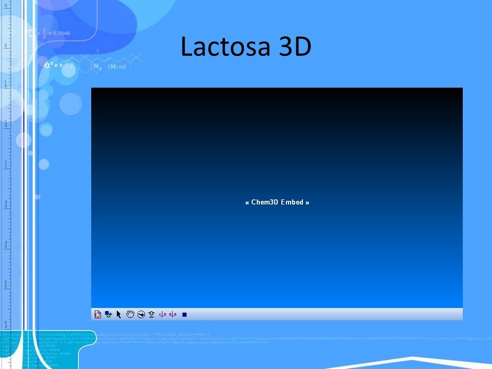 Lactosa 3D