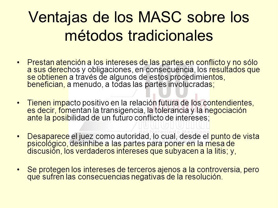 Ventajas de los MASC sobre los métodos tradicionales