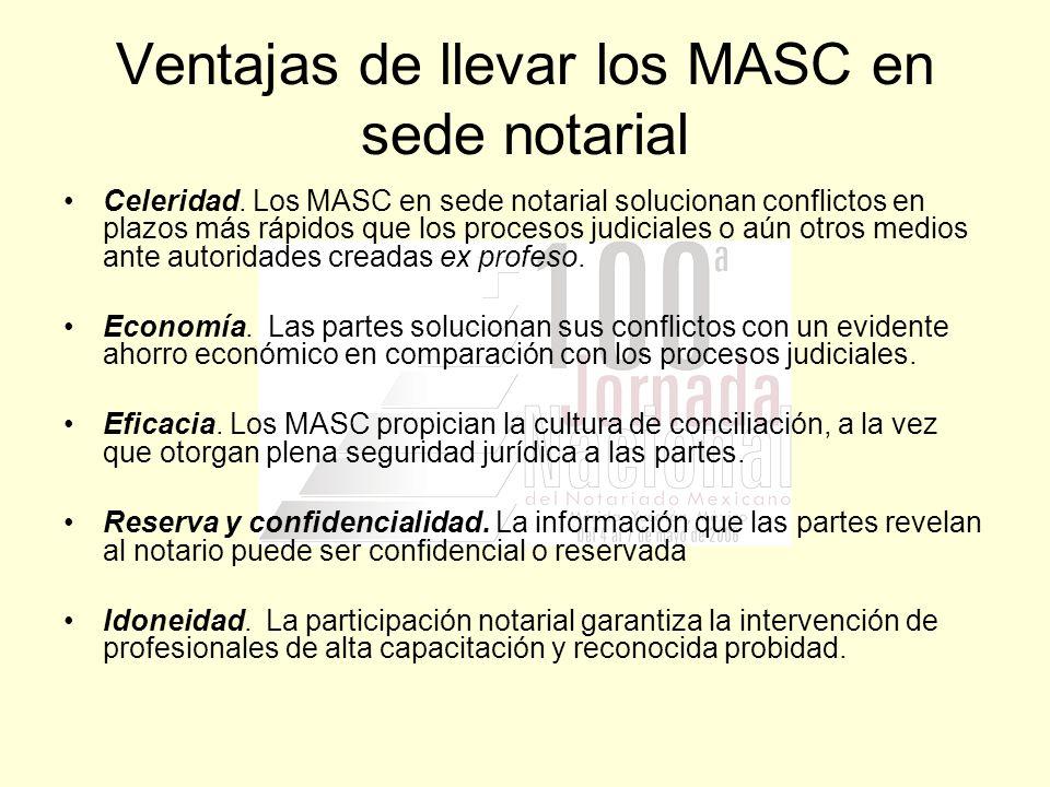Ventajas de llevar los MASC en sede notarial