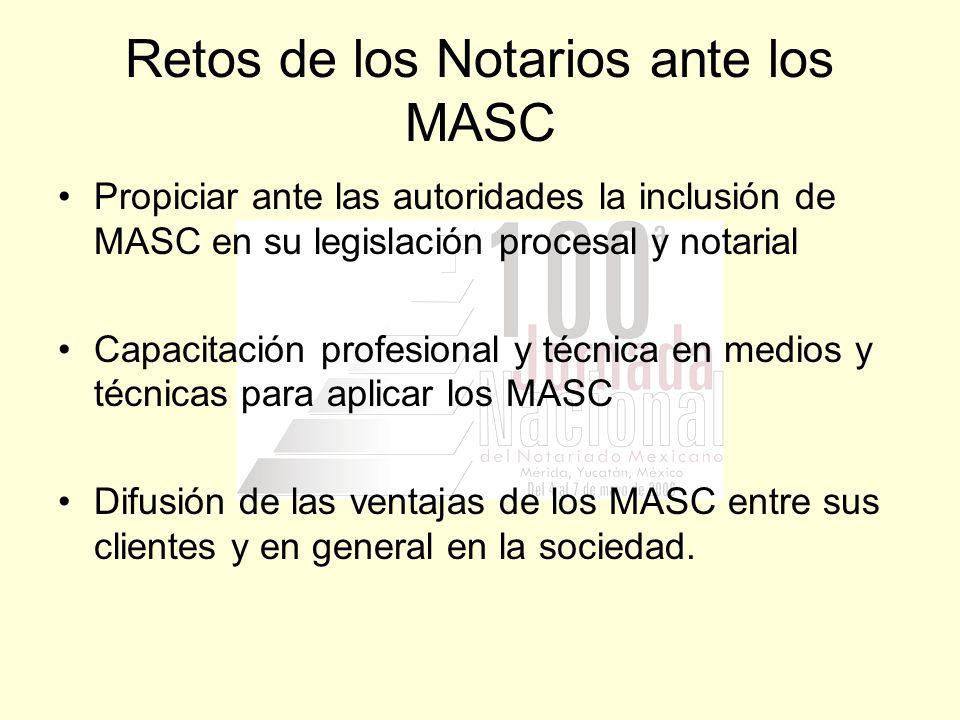 Retos de los Notarios ante los MASC