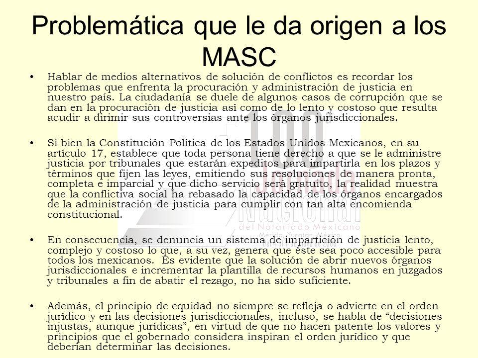 Problemática que le da origen a los MASC