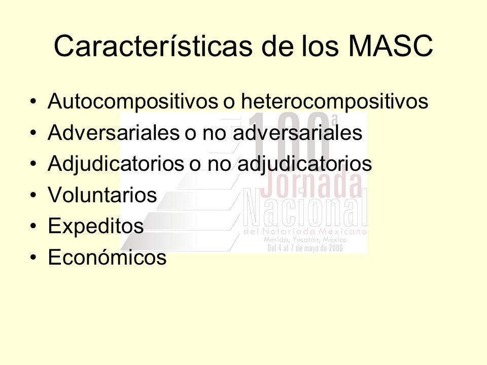 Características de los MASC