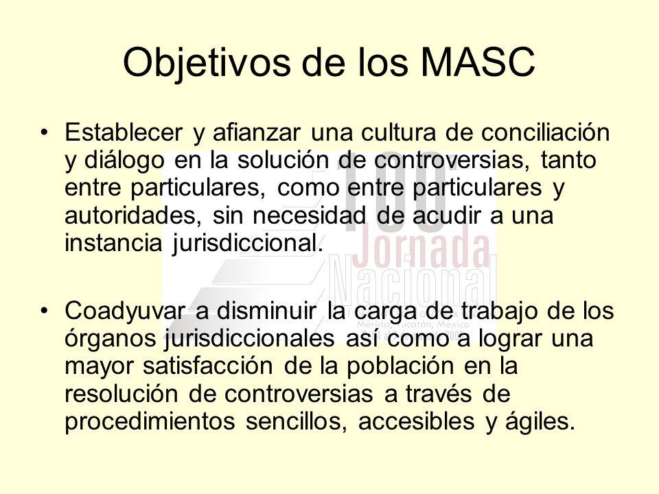 Objetivos de los MASC
