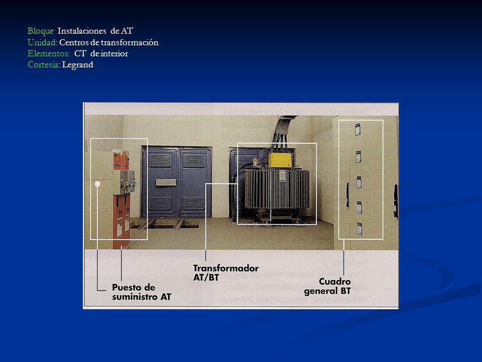 Bloque: Instalaciones de AT Unidad: Centros de transformación Elementos: CT de interior