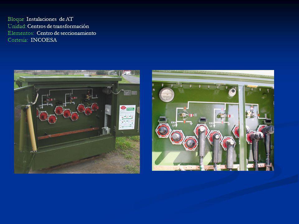 Bloque: Instalaciones de AT Unidad: Centros de transformación Elementos: Centro de seccionamiento