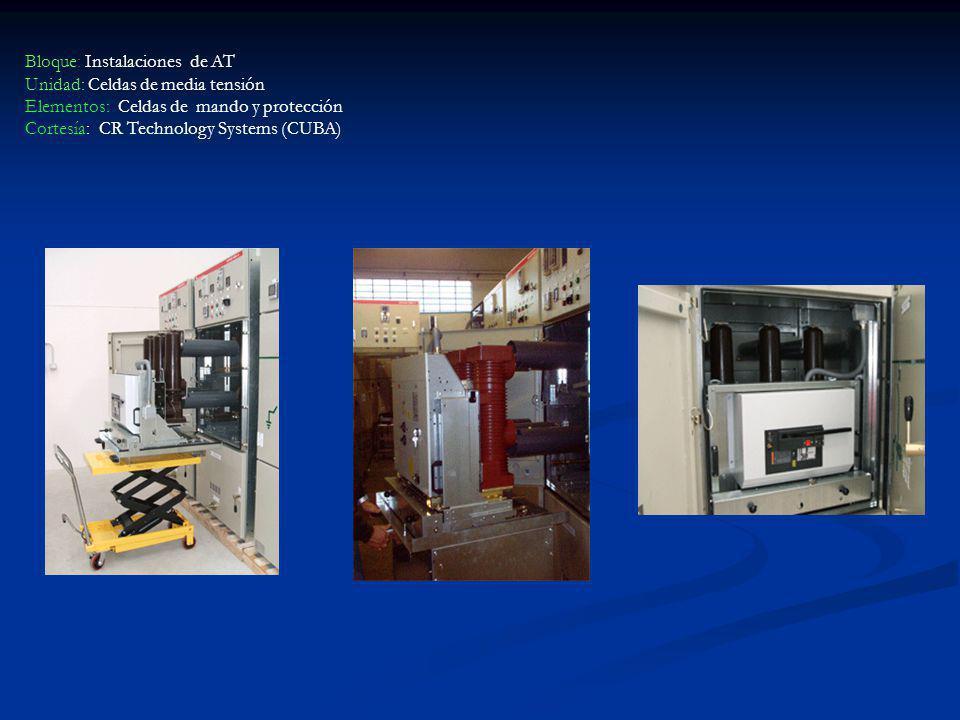 Bloque: Instalaciones de AT Unidad: Celdas de media tensión Elementos: Celdas de mando y protección