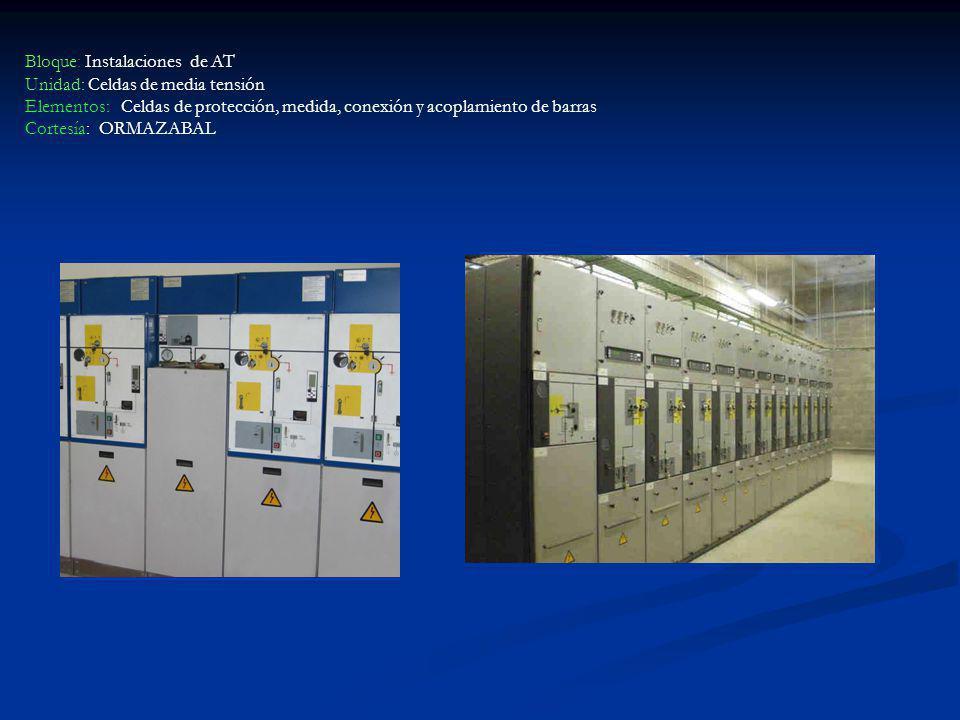 Bloque: Instalaciones de AT Unidad: Celdas de media tensión Elementos: Celdas de protección, medida, conexión y acoplamiento de barras