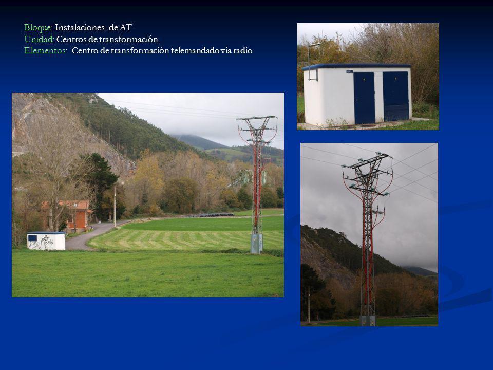 Bloque: Instalaciones de AT Unidad: Centros de transformación Elementos: Centro de transformación telemandado vía radio