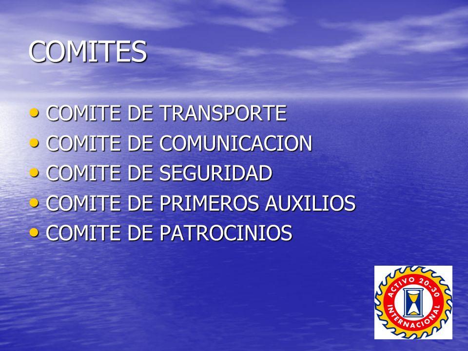 COMITES COMITE DE TRANSPORTE COMITE DE COMUNICACION