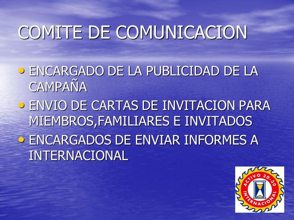 COMITE DE COMUNICACION