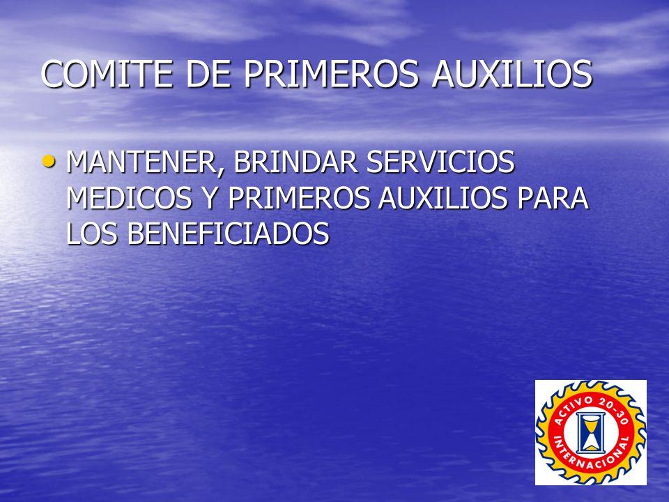 COMITE DE PRIMEROS AUXILIOS