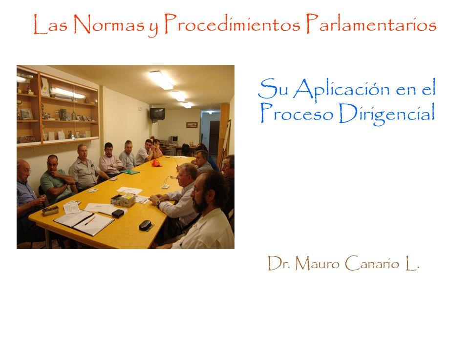 Las Normas y Procedimientos Parlamentarios