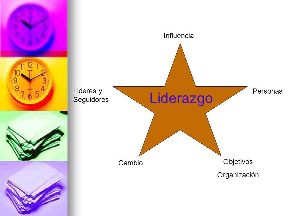 Liderazgo Influencia Lideres y Seguidores Personas Objetivos Cambio