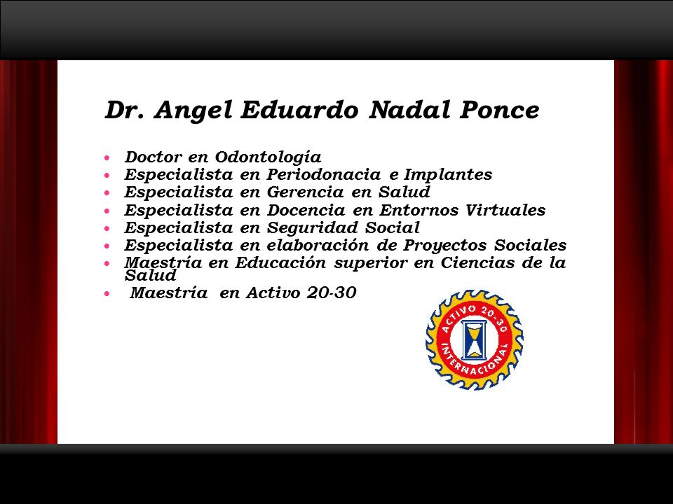 Dr. Angel Eduardo Nadal Ponce