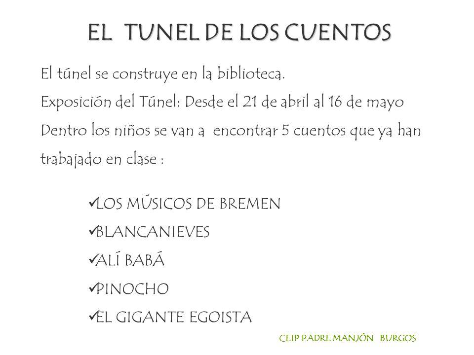 EL TUNEL DE LOS CUENTOS El túnel se construye en la biblioteca.