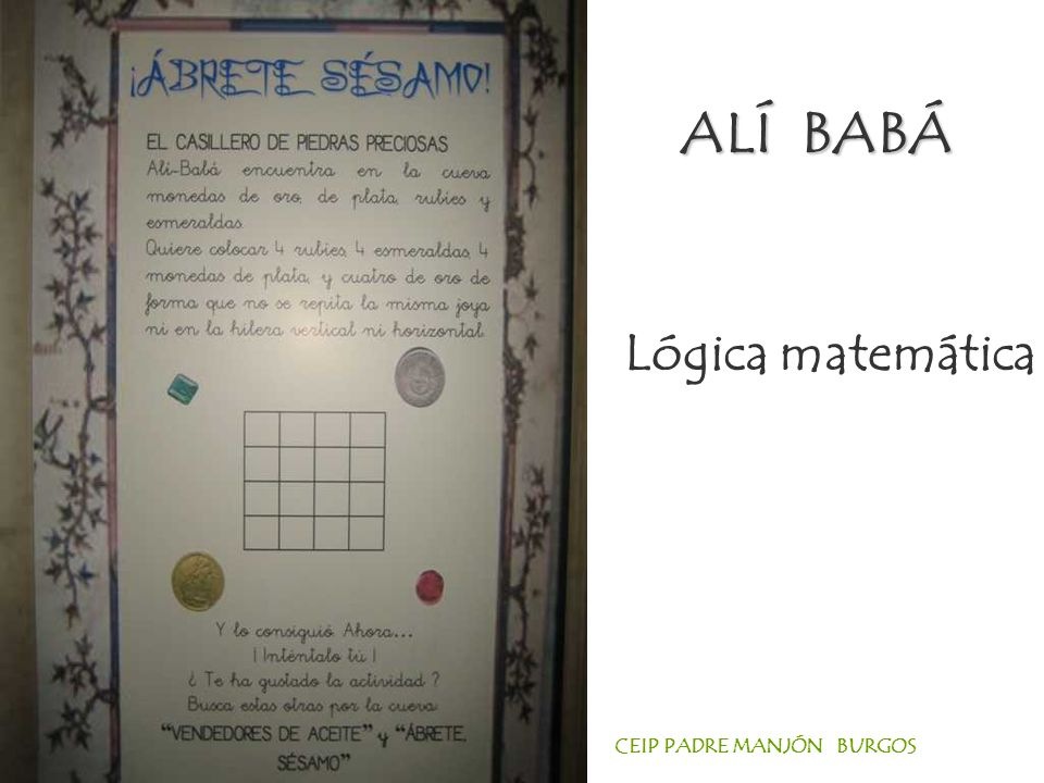ALÍ BABÁ Lógica matemática