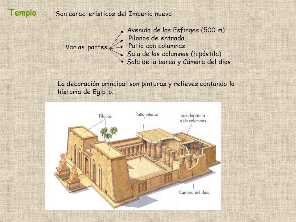 Templo Son característicos del Imperio nuevo