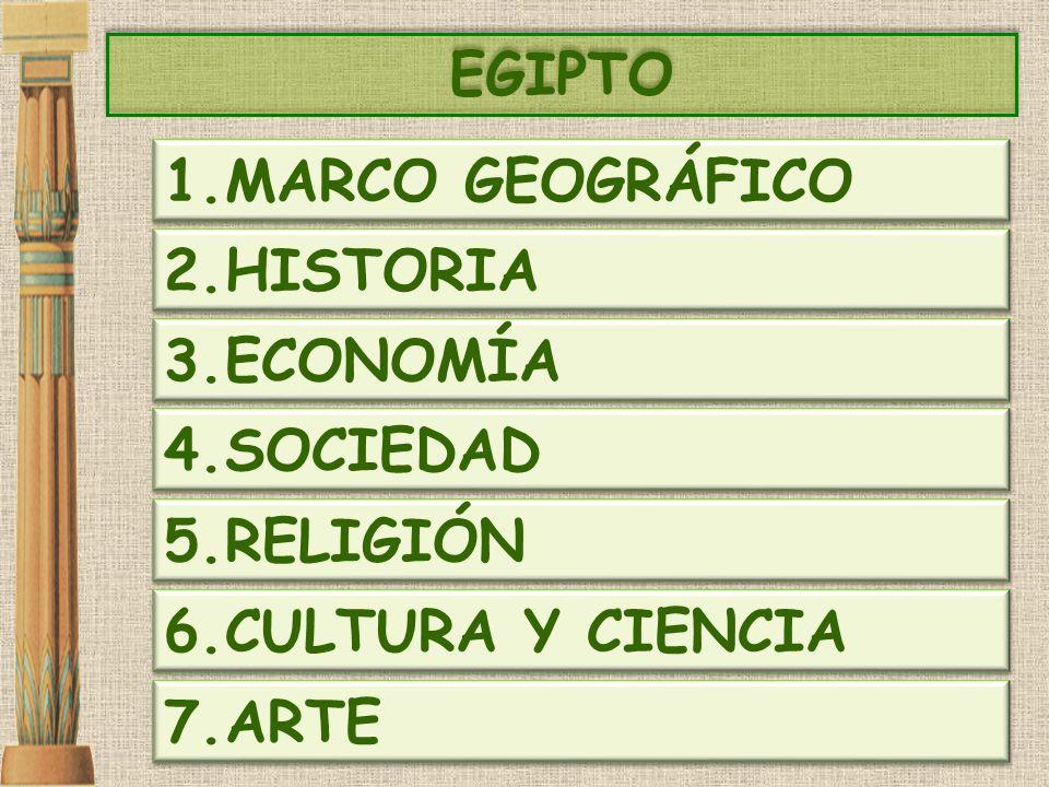 EGIPTO MARCO GEOGRÁFICO HISTORIA ECONOMÍA SOCIEDAD RELIGIÓN CULTURA Y CIENCIA ARTE