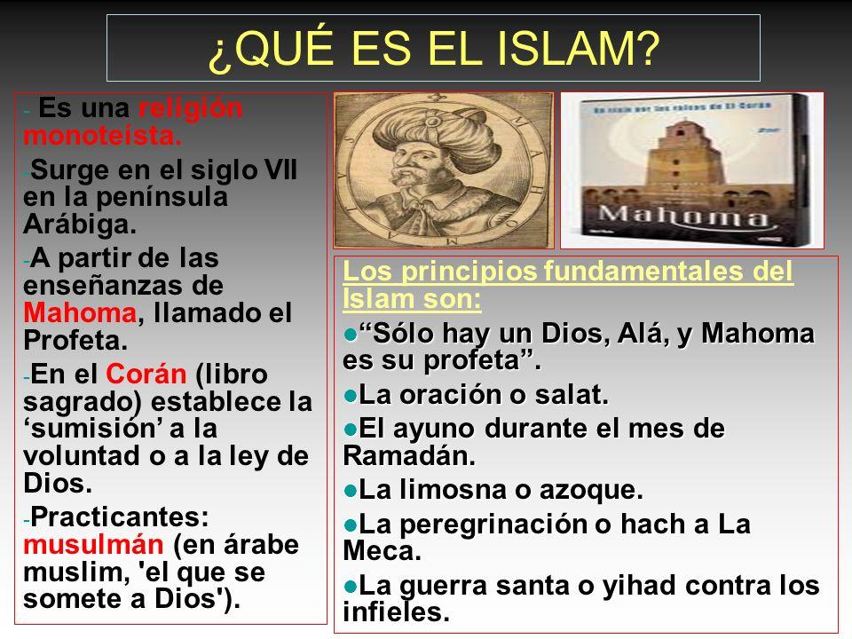 ¿QUÉ ES EL ISLAM Es una religión monoteísta.