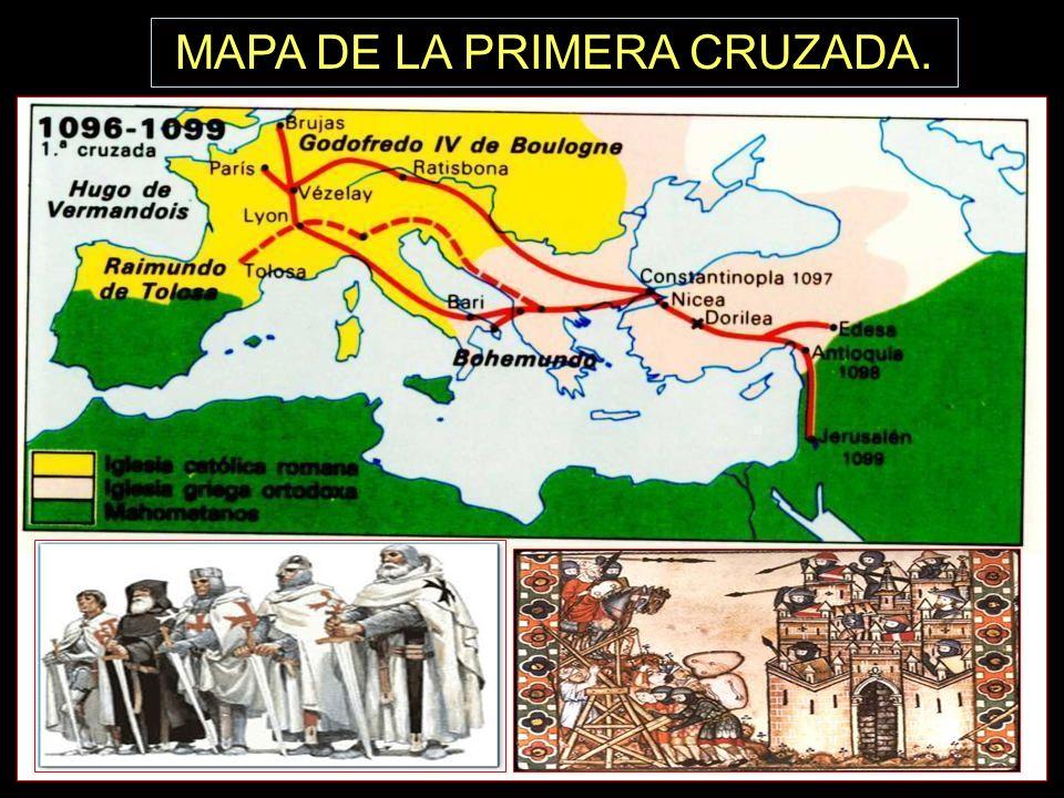 MAPA DE LA PRIMERA CRUZADA.