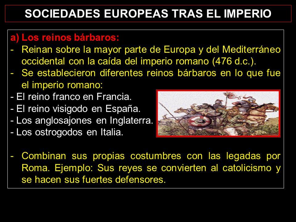 SOCIEDADES EUROPEAS TRAS EL IMPERIO