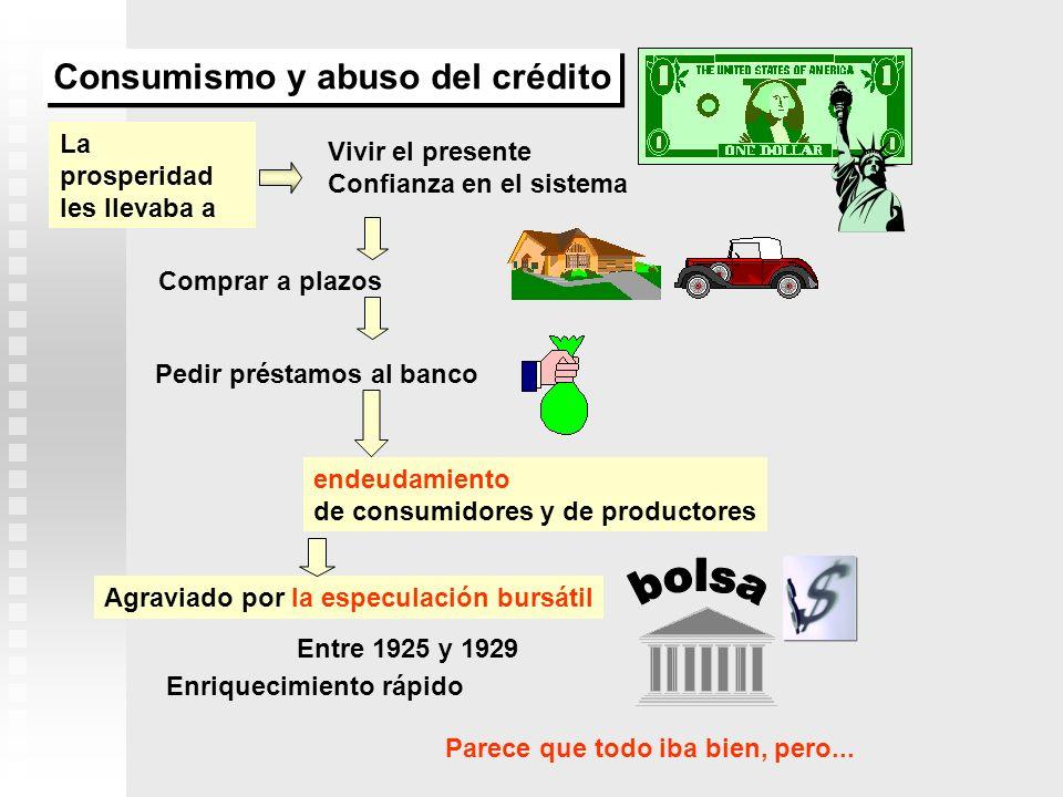 bolsa Consumismo y abuso del crédito La prosperidad les llevaba a