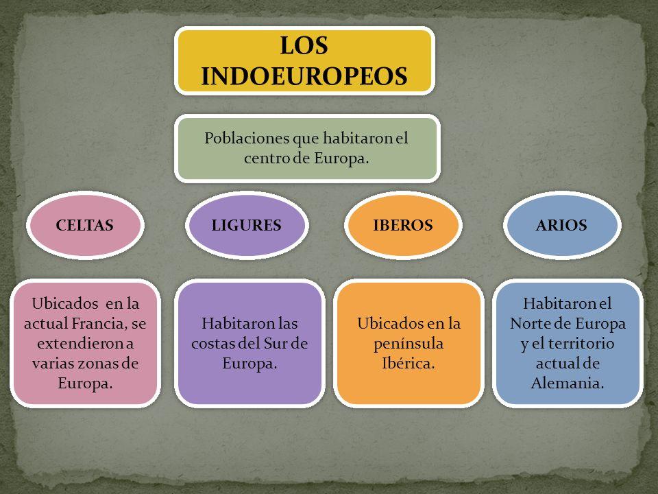LOS INDOEUROPEOS Poblaciones que habitaron el centro de Europa. CELTAS