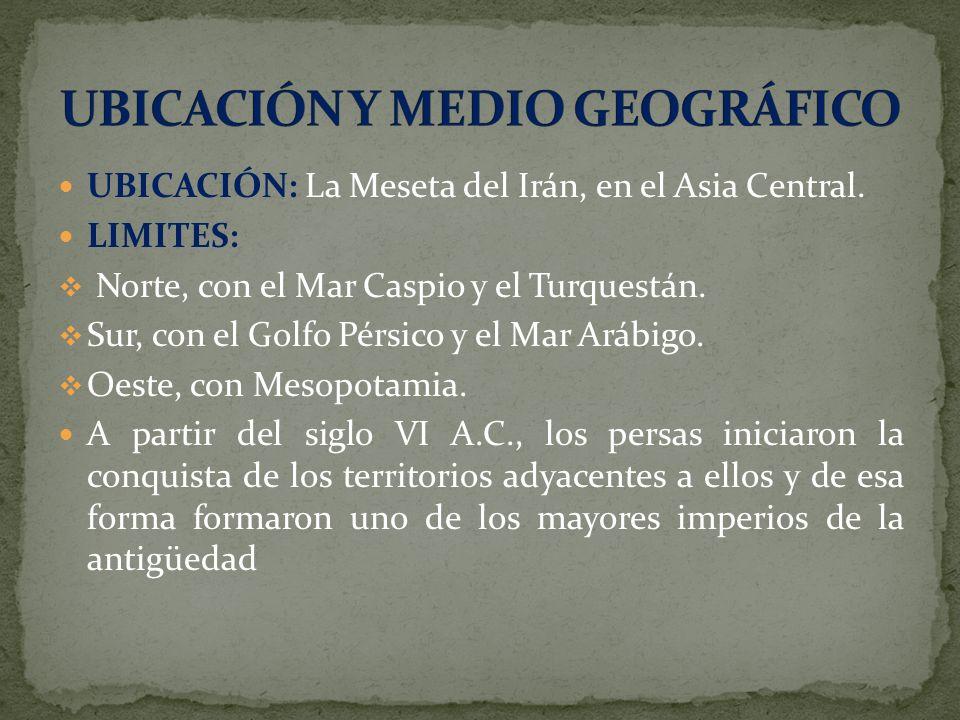UBICACIÓN Y MEDIO GEOGRÁFICO