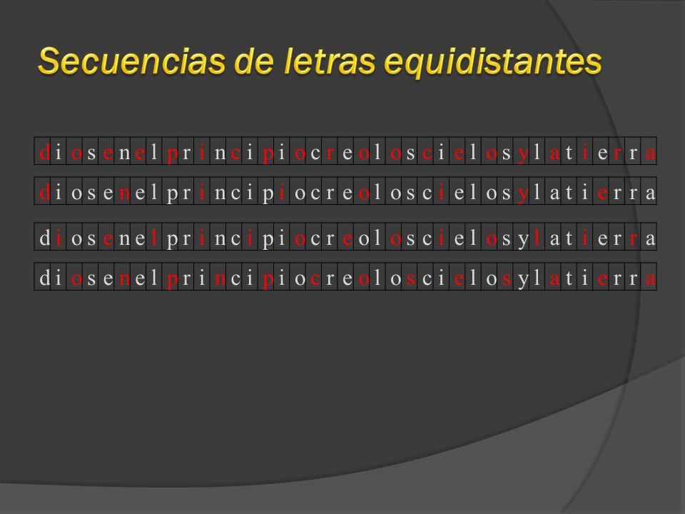 Secuencias de letras equidistantes