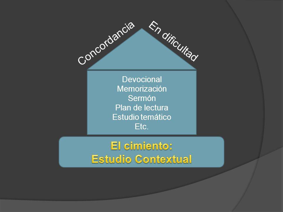 El cimiento: Estudio Contextual