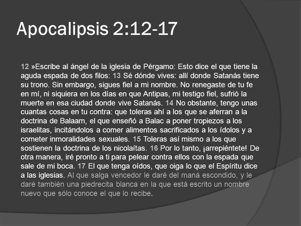 Apocalipsis 2:12-17
