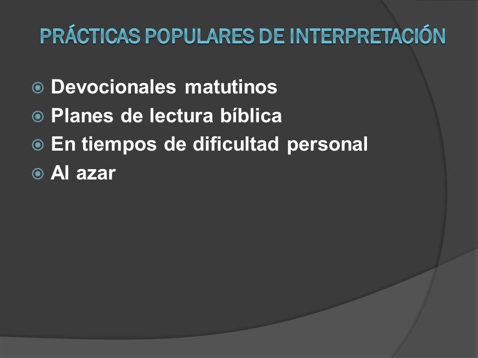 Prácticas populares de interpretación