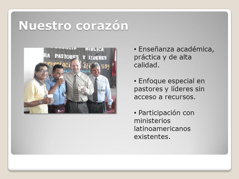 Nuestro corazón Enseñanza académica, práctica y de alta calidad.