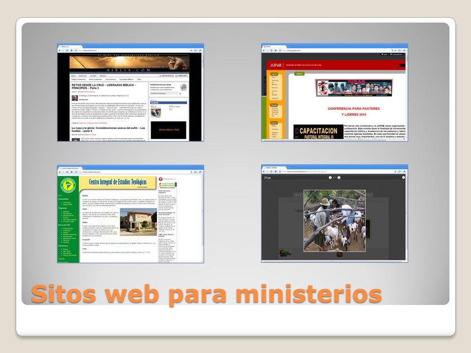 Sitos web para ministerios